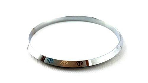 Mvir Engraved Sikh Punjabi Heavy Kada Kara Stainless Steel For Men Internal Diameter 6 7 Cmx0 5 Cm Thick
