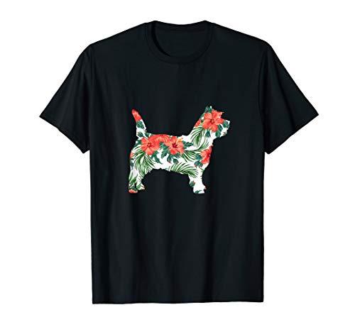 Cairn Terrier Aloha Dog Silhouette T-Shirt ()