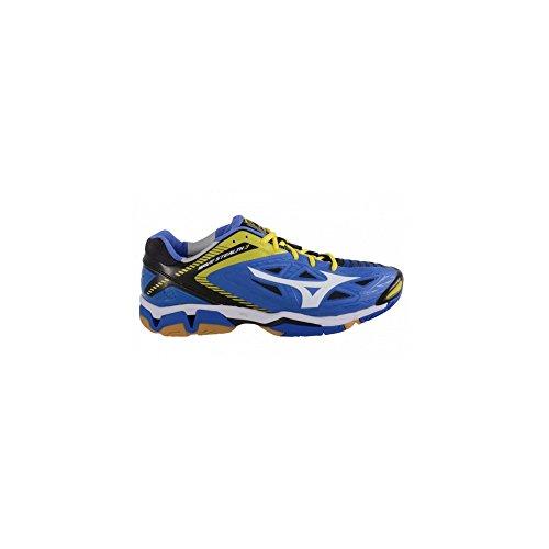 Mizuno Wave Stealth 3, Scarpe da Basket Donna Blu/Bianco/Giallo