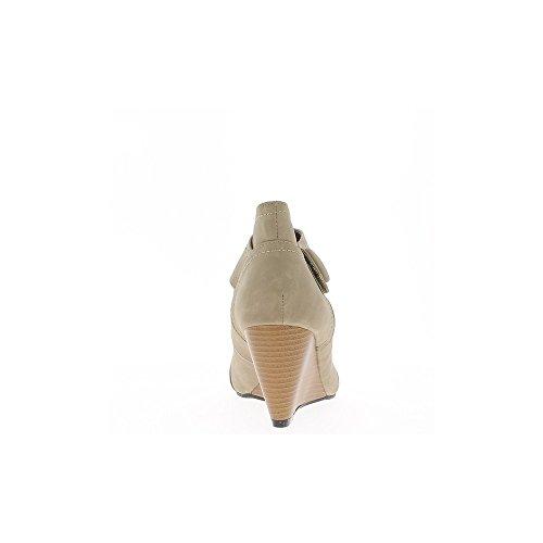 Chaussures compensées femme taupe talon 7cm