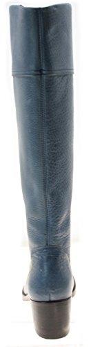 Schlupfstiefel ECHT LEDER Farbe Blau (35)