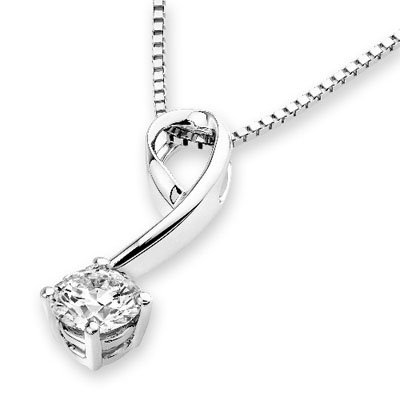 MaBelle 18K White Gold Solitaire Diamond Shooting Star Pendant w/ 925 Sterling Silver Chain Necklace (0.50 - Pendant Gold Star White 18k Diamond