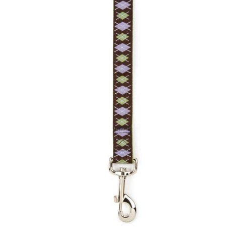 East Side Collection Polyester Academy Argyle Dog Lead, 6-Feet, Chocolate, My Pet Supplies