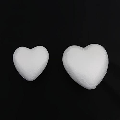 Perfeclan モデル クラフト 発泡 スチロール ハート型 手作り 手芸 素材 染色可能 手書き 結婚式 約40個
