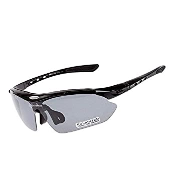 68e8c2b6ef ROCKBROS Sports Sunglasses New Polarized Goggles Cycling Glasses with TR90  Unbreakable Black Grey