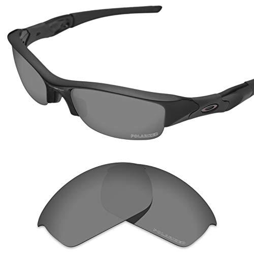 Tintart Performance Lenses Compatible with Oakley Flak Jacket Polycarbonate Polarized Etched-Sport Black