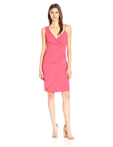 Nicole Miller Women's New Satin Back Crepe Asymetrical Dress