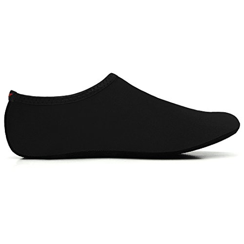 JustOneStyle NBERA Barfuß Flexible Wasserhaut Schuhe Aqua Socken für Beach Swim Surf Yoga Übung Pop_schwarz