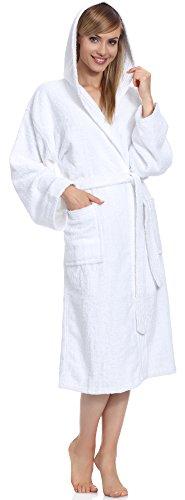 Ladeheid Albornoz para Mujer 100% Algodón LA40-102 Blanco (P01)