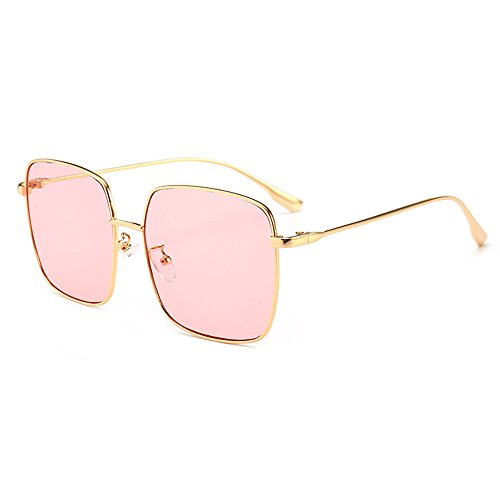 ocean UV Travel Gold Sunglasses Shopping Square Coolest Shield Protection Eyewear Oversize Sunglasses Lens Pink Sunglasses Frame Women Luxury Fashion Street q7T47z