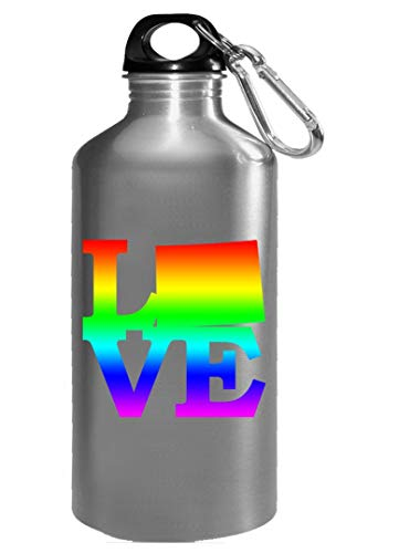 Wyoming Pride USA State Love Map - Water Bottle