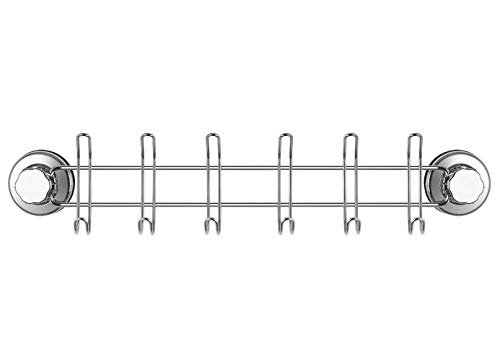 SANNO Suction Cup Hook Hanger Holder Rack Rail Towel Bar Organizer for Bathroom Shower Wreath, Loofah,Robe,Towel,Coat,Cloth,Kitchen Utensils,Wall Mounted on Glass Door,Window,Tile Wall