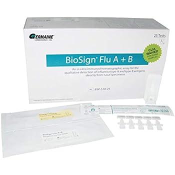 Amazon Com Biosign Bsp 510 25 Flu A B 25 Clinical