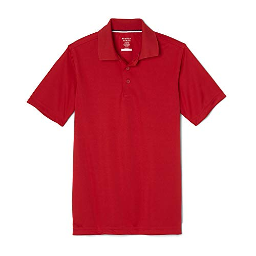 French Toast Boys' Little Short Sleeve Stretch Sport Polo, red, S (6/7)