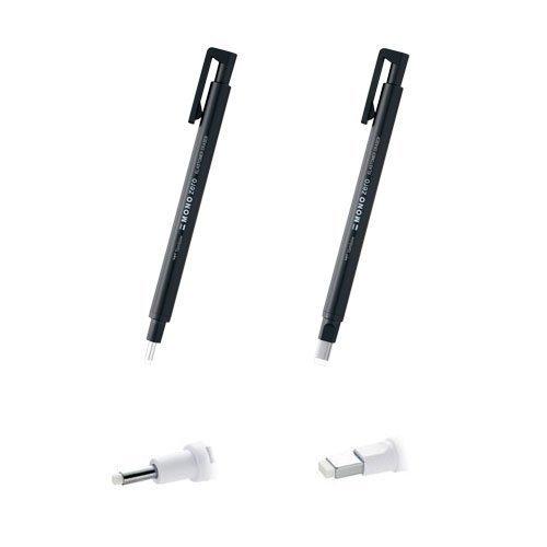 Tombow Mono Zero Pen-style Eraser Round Tip + Square Tip...