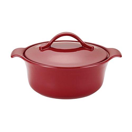 Anolon 51035 Vesta Ceramics Casserole, 2.5-Quart, Paprika Red