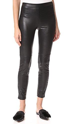 - Ella Moss Women's Faux Leather Leggings, Black, Large