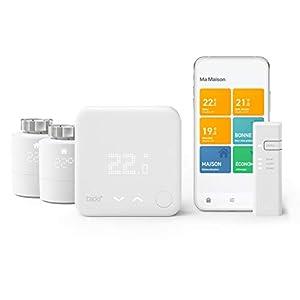 tado° Thermostat Connecté et Intelligent Filaire – Kit de Démarrage V3+ et 2 Têtes Thermostatiques Intelligentes pour…
