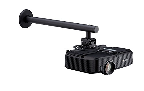Projector Universal Wall Mount 16'' to 23'' Extension from Wall, Tilted Up and Down 12 Degree and Tightly Locked. 360 Degree Swival, Black Color by Elitech