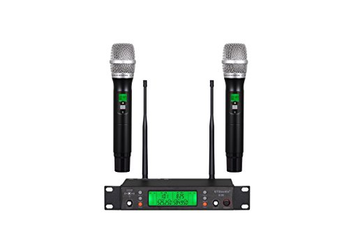 GTD Audio UHF 200 Selectable Frequency Channels Professional Wireless microphone Karaoke Mic System