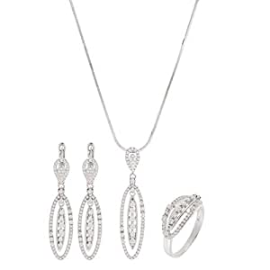 Aurora Women Silver Jewelry Set