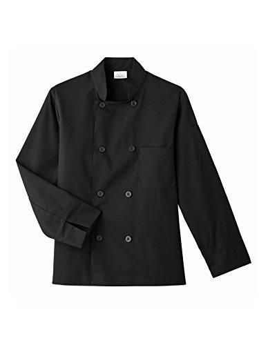 Five Star Chef Apparel 8 Button Coat (Black, XX-Small) by Five Star Chef Apparel (Image #1)