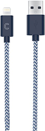 candywirez Cable for iOS devices - Apple MFi Certified 3 FT Nylon Braided Charging  Cable - Navy - iPhone - Nano Candy Ipod Hard