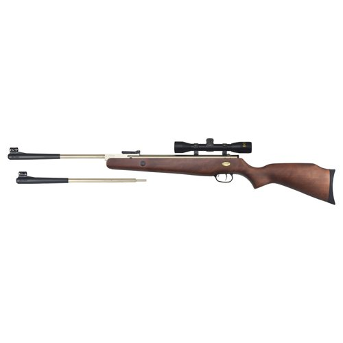 Beeman Sportsman Silver Kodiak X2 10774GP Gas Ram Dual Caliber Air Rifle Combo with 4x32x 40mm - Rifle Gas