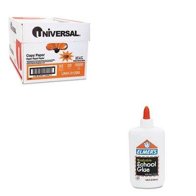 KITEPIE308UNV21200 - Value Kit - Elmer's Washable School Glue (EPIE308) and Universal Copy Paper (UNV21200)