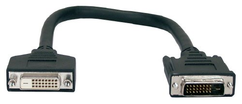 QVS CFDDX-D03 3 ft. Premium DVI Male to Female Digital Flat Panel Extension (Female Digital Flat Panel Extension)