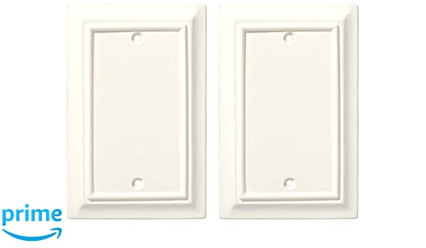 Brainerd 126339 Wood Architectural Single Blank Wall Plate//Switch Plate//Cover 2 pack