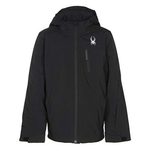 (Spyder Boys' Ambush Ski Jacket, Black/Black/Black, Size)