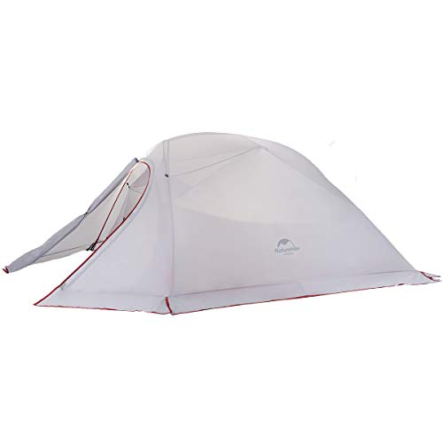 Naturehike Cloud-Up 3 Person 4 Season Backpacking Tent with Footprint - Lightweight Winter Tent for Hiking, Camping and Expeditions (20D Gray with Snow Skirt)