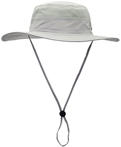 Camo Coll Outdoor UPF 50+ Boonie Hat Summer Sun Caps (One Size, French Gray)