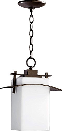 Quorum 7201-9-86 Kirkland Pendant, 1-Light, 100 Watts, Oiled Bronze (Kirklands Lamps)