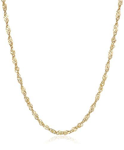 Chaîne maille Singapour en or jaune 14 carats, largeur 1,80mm, longueur au choix