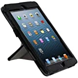 rooCASE Origami Dual-View Vegan Leather Case for iPad mini (Black)