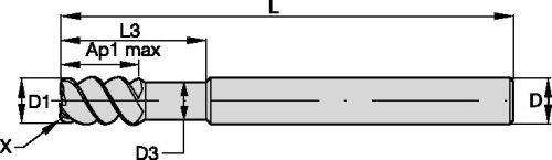 TiAlN 4-Flute Carbide Weldon WIDIA Hanita TF4VN513005 VariMill I 4VN5 HP Finishing//Roughing End Mill 0.5 Cutting Diameter RH Cut 0.02 Chamfer