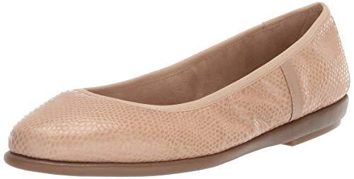 Aerosoles Women's Better Yet Ballet Flat, Light tan Snake, 9 M US