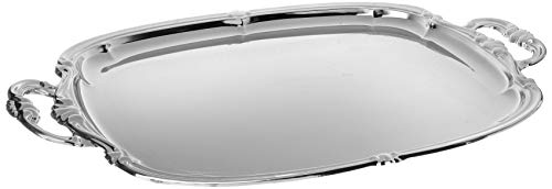 (Winco CMT-1912 Oblong Tray with Integrated Handle, Chrome)