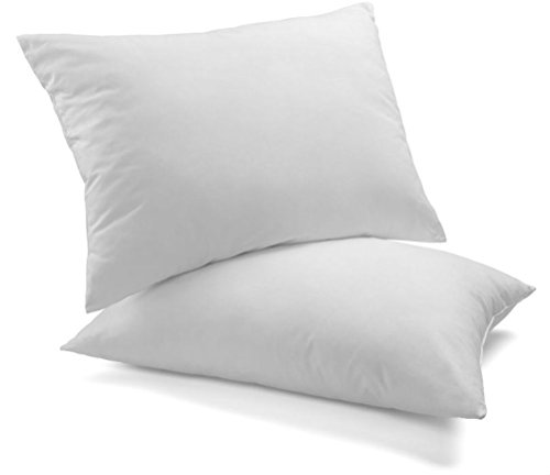 Premium White Goose Down and Feather Bed Pillows 2 Pack –