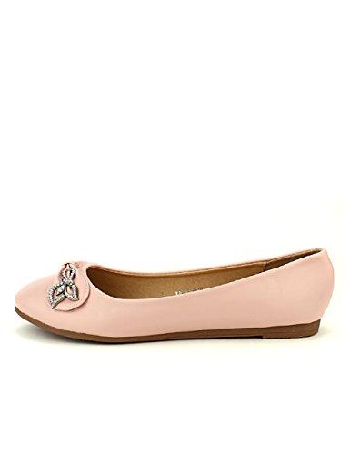 CINKS Rose Ballerine Strass Femme Chaussures Boucle Cendriyon ZqOEzn70x