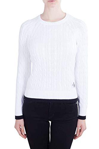 Cotone Jeans Trecce Pima Donna In Klein A Calvin Maglione Bianco ZT0fqxR