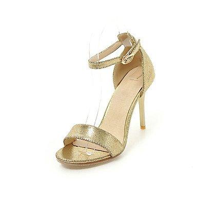 pwne Zapatos De Mujer Sandalias Comfort Polipiel Primavera Verano Otoño Office &Amp; Carrera Stiletto Talón Hebilla Casual Vestido Rojo Negro Oro Plata 3A-3 3/4 Pulg. US5 / EU35 / UK3 / CN34