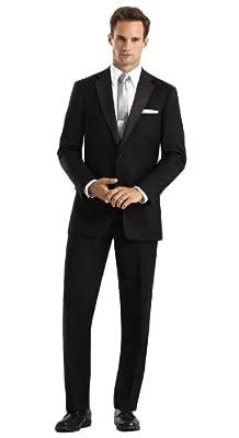 Calvin Klein Men's Barcelona Two Button Tuxedo Jacket Black Regular