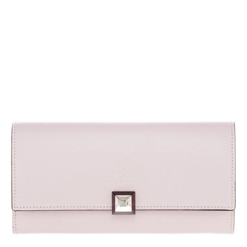 Fendi Women's Studded Flap Continental Wallet Pink