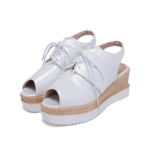 AdeeSu Femme Blanc Plateforme AdeeSu SLC04341 Femme Plateforme SLC04341 Blanc qwr0a4qv