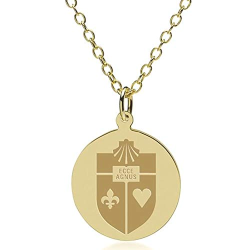 M. LA HART St. John's 18K Gold Pendant & Chain