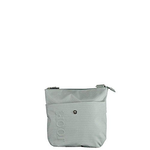 JOOP! Nylon Naviga Dia Schultertasche, Farbe light grey / Tragetasche aus edelstem Leder / Ledertasche / kleine Handtasche mit Markenlogo hellgrau