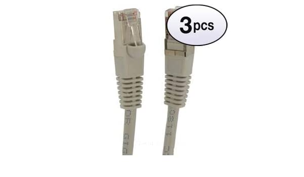 GOWOS Cat5e Shielded Ethernet Cable 26AWG Network Cable with Gold Plated RJ45 Snagless//Molded//Booted Connector 1Gigabit//Sec High Speed LAN Internet//Patch Cable 10-Pack - 50 Feet Gray 350MHz